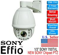 22x 1/3 Sony Effio Ccd 700tvl Ptz 3.9 - 85.5mm Zoom Vari Lens Constant Speed