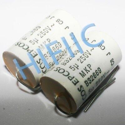 2PCS EPCOS B32669 MKP 5UF 250V 450VDC axial capacitor