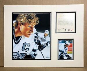 Los Angeles Kings WAYNE GRETZKY 1995 Hockey 11x14 MATTTED Kelly Russell Print