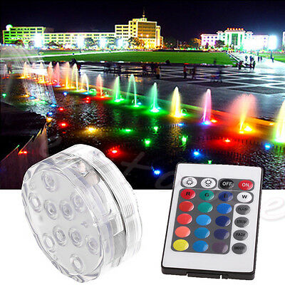 Waterproof LED RGB Submersible Light Wedding Party Vase Lamp +Remote Control Hot