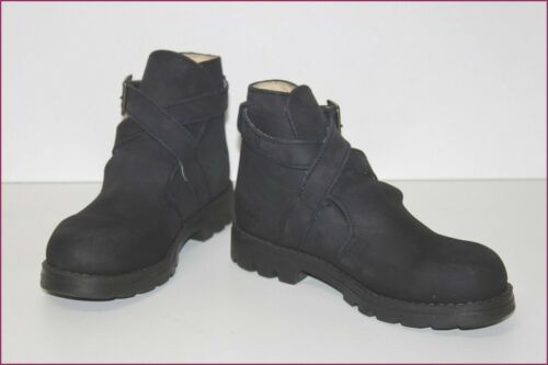 Kickers Boots Children Leather Navy T 34 Very Good