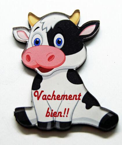 Magnet vache humour 12 modèles aux choix possible personnalisation