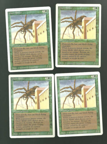 Giant Spider Revised X4 Green NICE MTG