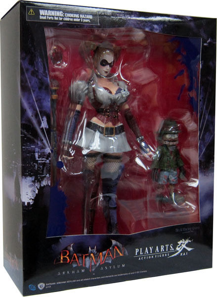 Batman arkham asylum_harley quinn 8,7 zentimeter figure_play kunst kai_series 2_new_mib