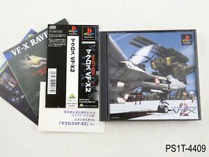 Macross-VF-X2-Playstation-1-Japanese-Import-PS1-JP-Robotech-Japan-PS-US-Seller-B