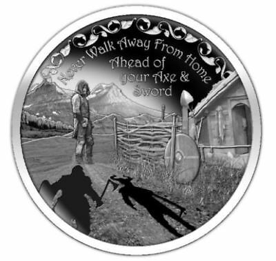 "NEW Vikings Proverbs Proof Series /""Never Walk Away/"" #1 of 3 Norse Valhalla COA"