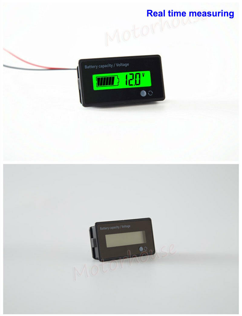 LCD Lead Acid LiFePO4 Lithium Li-ion Battery Volt Meter Capacity Level Indicator