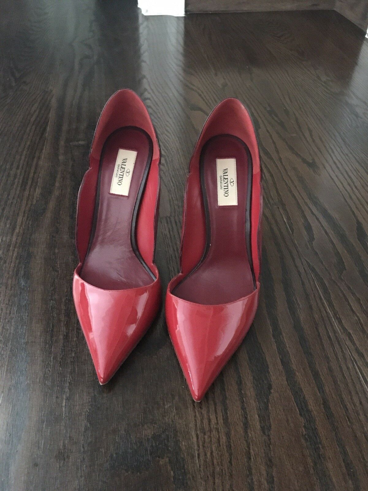 Valentino red Absolute Scalloped Pumps Red colorblocking Size  9.5   39.5  895