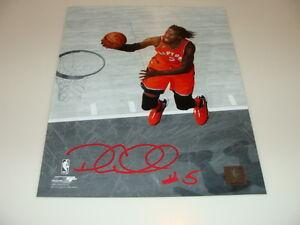 Toronto Raptors Demarre Carroll Signed NBA Basketball 8x10 Autograph COA Picture