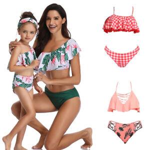 Mother-Daughter-Matching-Swimsuit-Tankini-Bikini-Set-Swimwear-for-Women-Girls