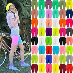 Neuf Filles Enfants Lycra Extensible Danse Sports Biker Cycling Short School Hot Pants-afficher Le Titre D'origine