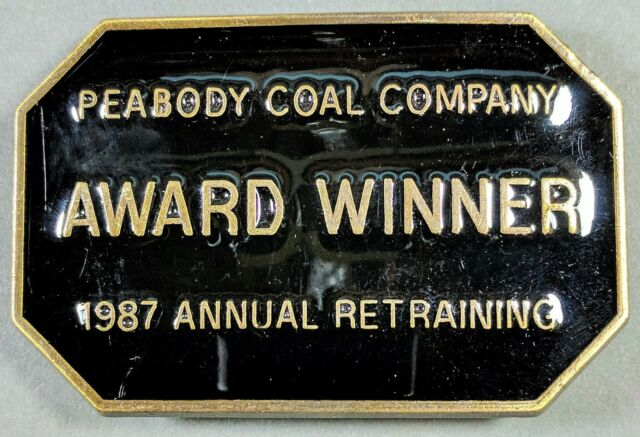 *NEW* 1987 Peabody Coal Company Award Winner Annual Retraining Belt Buckle
