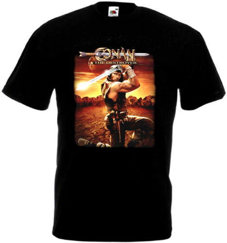 5XL Conan le destructeur v5 T-shirt noir Poster toutes tailles S...