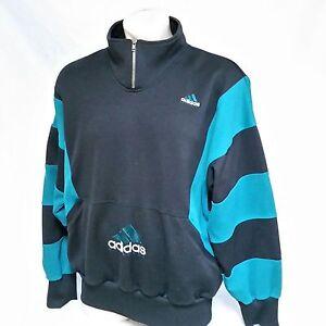 9072d27406fa3 Details about VTG Adidas Equipment Fleece Pullover Sweatshirt Jacket 90s  Colorblock Yeezy XL