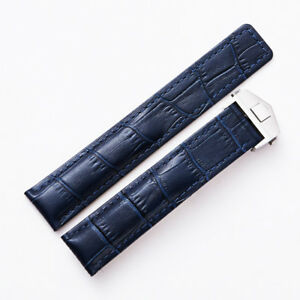 Alligator-Style-22mm-Blue-Watch-Band-Strap-Made-For-Tag-Heuer-Carrera-Calibre