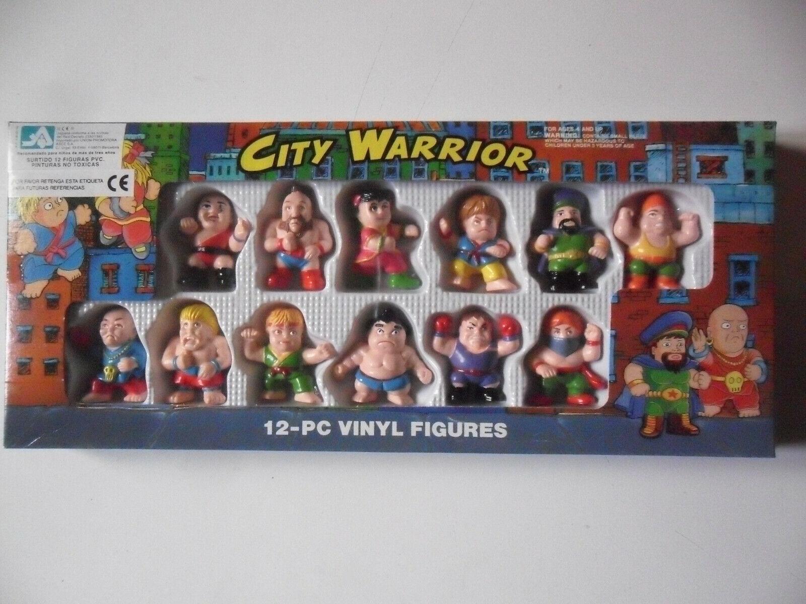 CITY WARRIOR STREET FIGHTER BOOTLEG CAJA CON 12 FIGURAS SOMA 1993