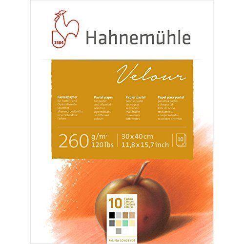 Hahnemuhle Velour Pastel Paper Pad - Mixed Colour 30x40cm