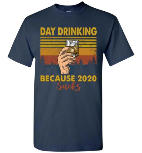 Funny Quarantined T-Shirt Day Drinking Beer Wine Review 2020 Bad Sucks Tee Gifts
