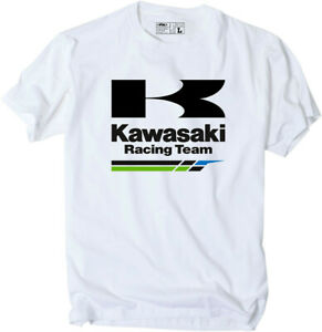 Factory-Effex-Licensed-Kawasaki-Racing-T-Shirt-White-Mens-All-Sizes
