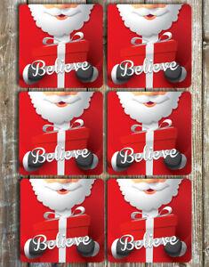 Santa-Christmas-Coasters-Set-of-6-Neoprene-Coasters
