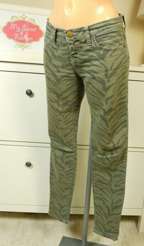CURRENT ELLIOTT Jeans Jeanshose THE ANKLE SKINNY Olive Zebra Gr. 26