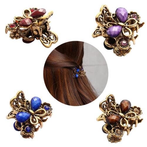 Frauen Vintage Geschenke Haar Klaue Haarnadeln Schmetterling Haarspange
