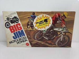 Vintage-Mattel-Big-Jim-Motocross-Honda-Elsinore-CR-250M-7373-1974-USA-HTF