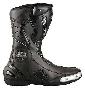 Motorradstiefel-Racing-Boots-Touringstiefel-von-XLS-schwarz-Gr-40-bis-48