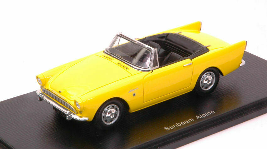 Sunbeam Alpine Convertible 1964 jaune 1 43 Model s4945 SPARK MODEL