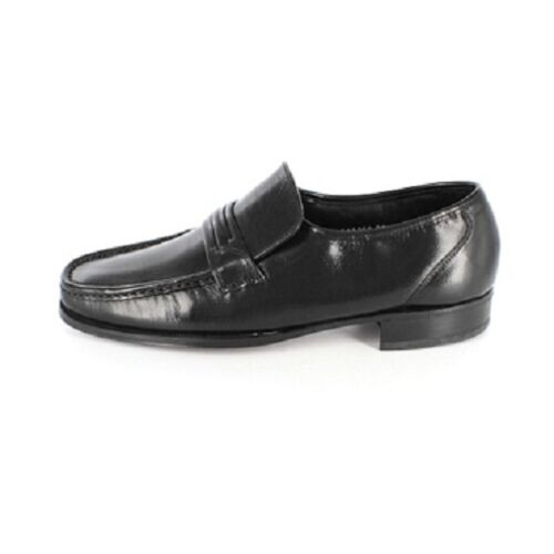 Mens Florsheim Como Black Leather loafer Dressy Slip on extra comfort 17089-01