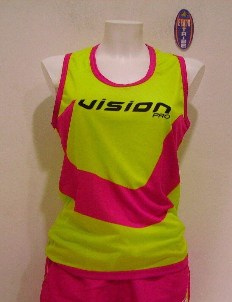 Vision Tank Top Sleeveless Beach Tennis Woman Duo Yellow Fuchsia