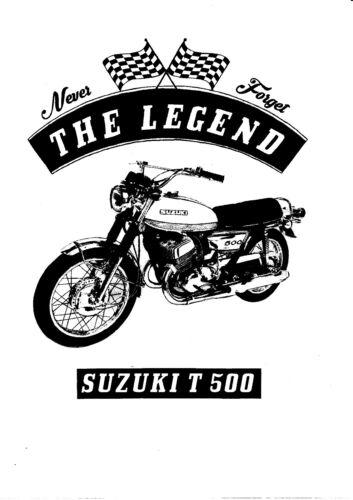 Suzuki T 500 Bike Oldtimer Motorcycle Youngtimer T-Shirt