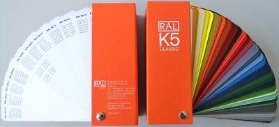 Umorismo Mazzetta Tinte Unificate Ral K5 Gloss Ventaglio 213 Colori Lucidi Pagina Piena