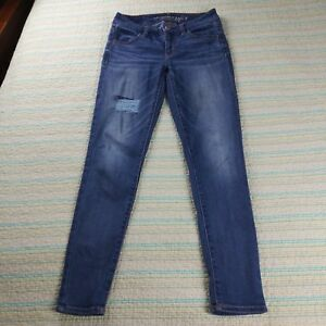 American-Eagle-Sz-0-Short-Mid-Rise-Jegging-Distressed-Super-Stretch-Skinny-Jeans