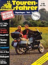 TF9201 + Test YAMAHA XJ 600 S Diversion + DUCATI 907 I.E. + Tourenfahrer 1/1992