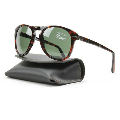 Persol 714 Folding Sunglasses 24/31 Brown Havana, Grey Crystal Lens PO0714 54mm