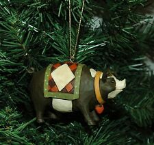 Pig, Hog, Porker Under A Quilt Christmas Ornament, Farm, Farmer