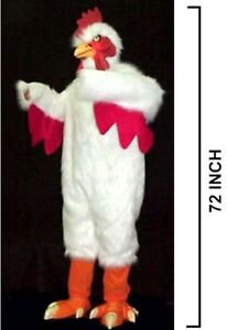 Image is loading DELUXE-WHITE-CHICKEN-SUIT-adult-size-bird-costume- & DELUXE WHITE CHICKEN SUIT adult size bird costume party dress up ...