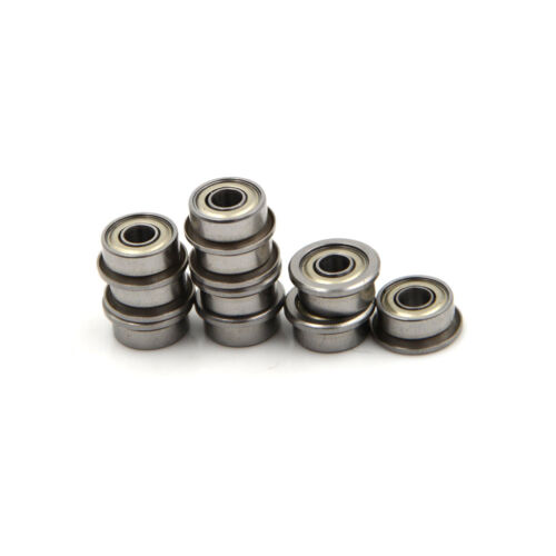 10PCS F693ZZ 3*8*4mm Miniature Deep Groove Ball Flanged Cup Bearings Pop SW