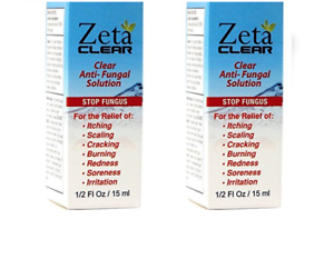 2x Zeta Clear Fungal Nail Treatment Kills 99 9 Of Nail Fungus
