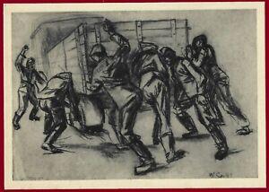 German WW 2 Third Reich postcard WEHRMACHT ART OF THE FRONT
