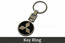 Mitsubishi Métal Porte-clés Clé Chaîne Porte clés Porte-clé breloque de clé Noir