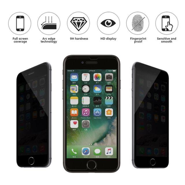 9H Privacidad Anti-Spy vidrio templado protector de la pantalla para el iPhone