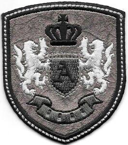 Argent Noir Glycine Lion Couronne Armoiries Crest Lettre A Broderie Patch