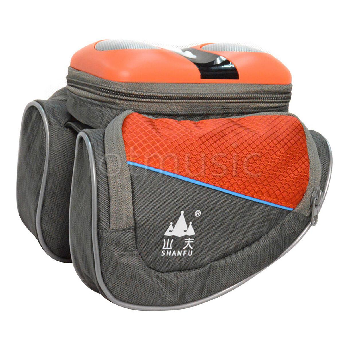 Cycling Bike Triangle Frame  Pannier Stereo Speaker Front Tube Saddle Bag orange  hot sales