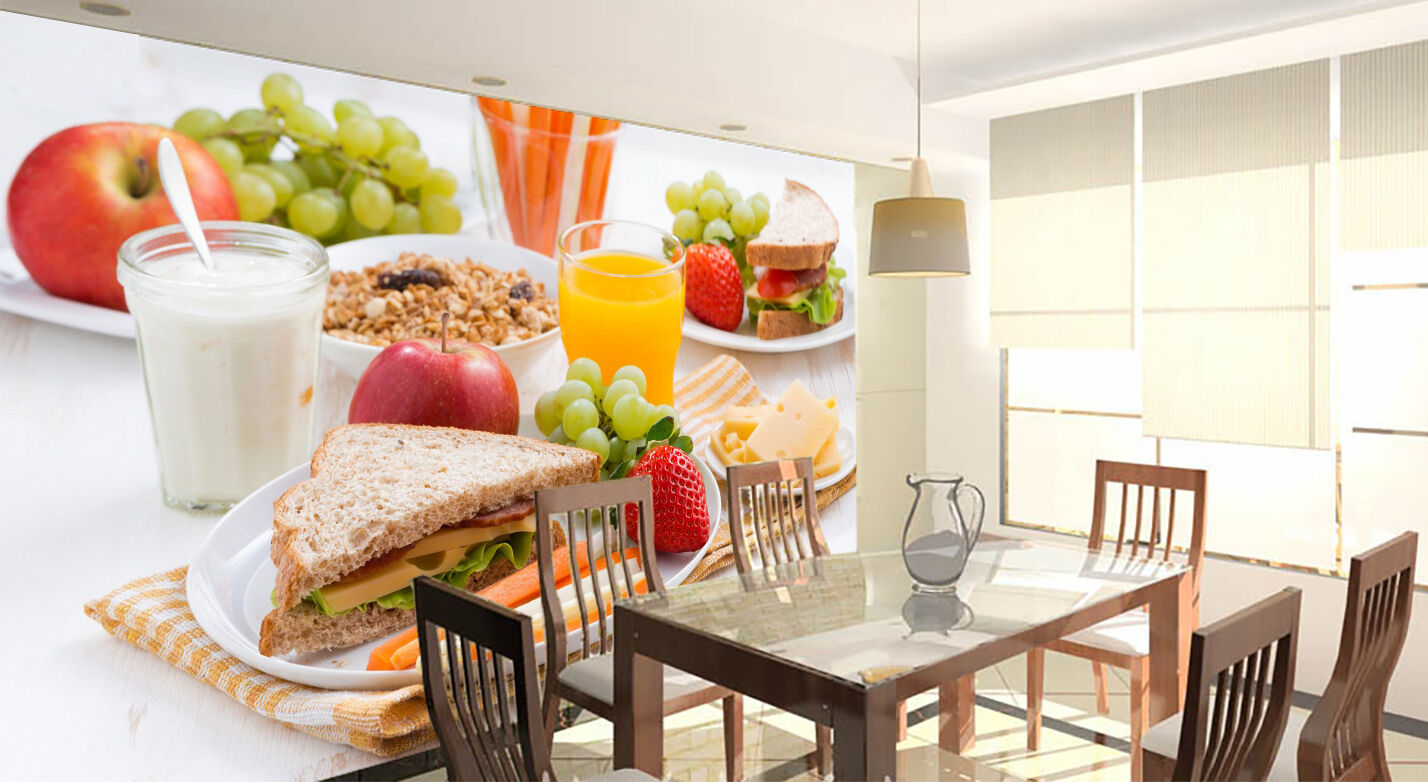 3D Nutritious breakfast Wall Paper Print Wall Decal Deco Indoor Wall Murals