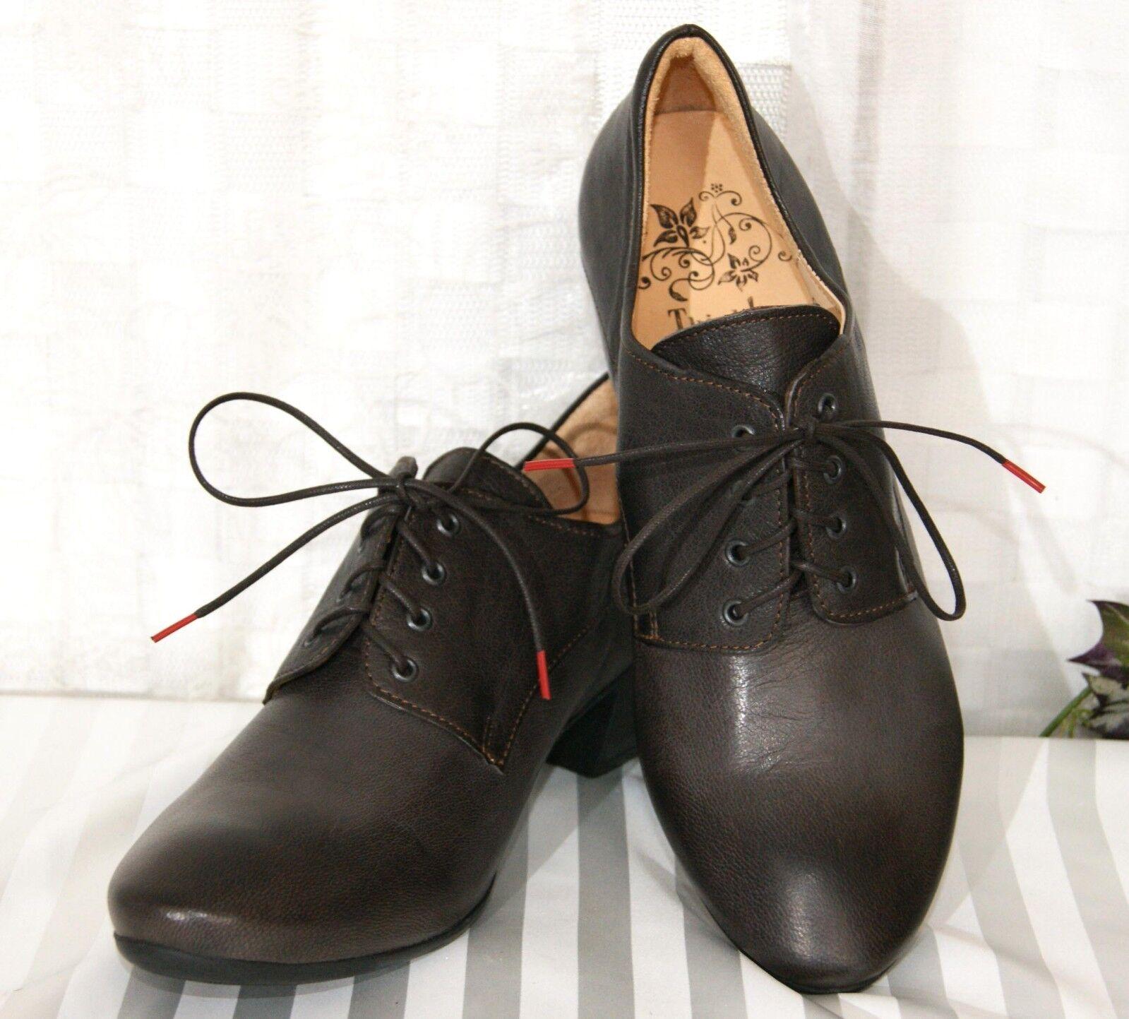 Think semi depósito zapatos schnürzapatos marrón 41 cuero genuino depósito semi plantilla nuevo 42c8b5