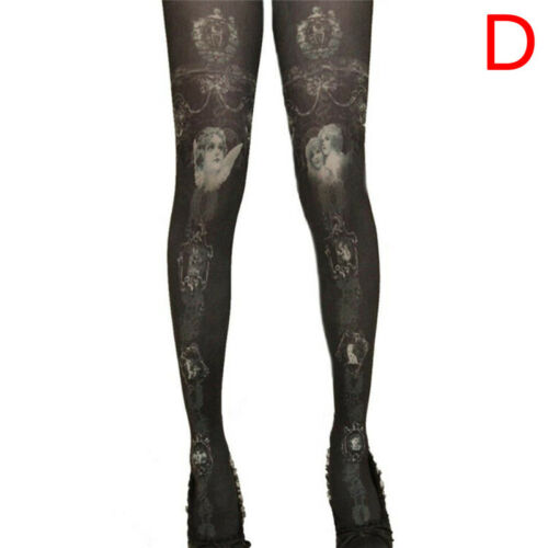 Fancy Floral Print Tights Pantyhose Stocking Party Pants Pantyhose SN