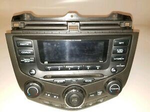 03-04-05-HONDA-ACCORD-6CD-AM-FM-RADIO-DASH-BEZEL-CLIMATE-CONTROL-A-C-OEM