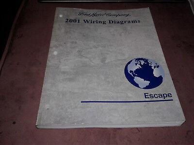 2001 Ford Escape Wiring Diagrams Service Manual | eBay